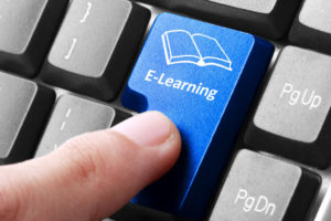 E-learning button on keyboard